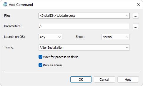 Commands - Actual Installer Help
