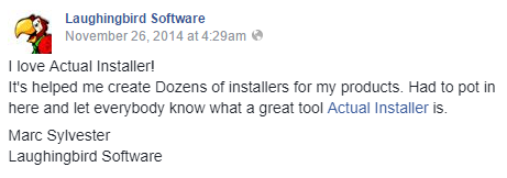 create dozens of installers - from facebook