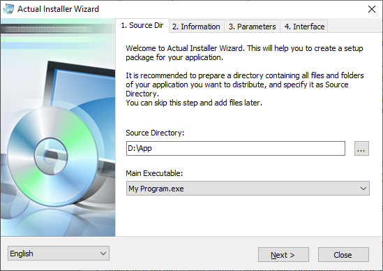 Create Installer Package - Actual Installer Features