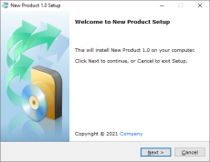 Setup Wizard - Welcome Dialog